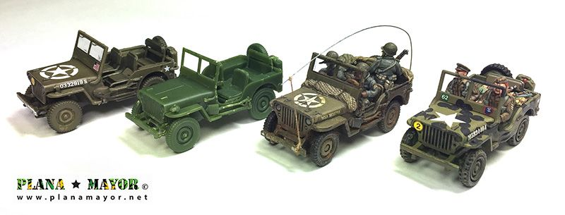 Comparativa Jeep Willys MB, vista lateral derecha